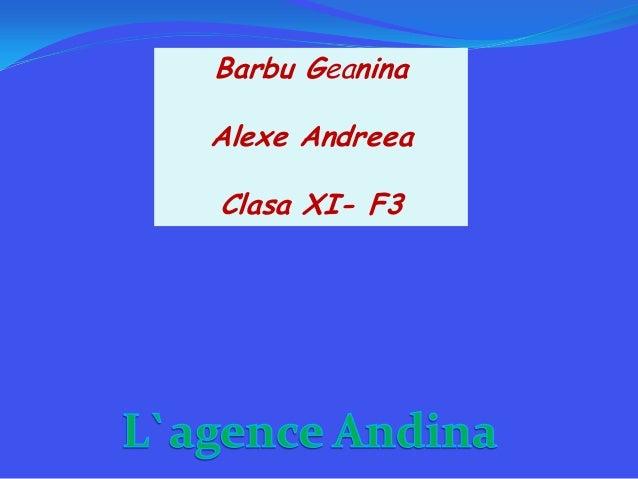 Barbu GeaninaAlexe AndreeaClasa XI- F3