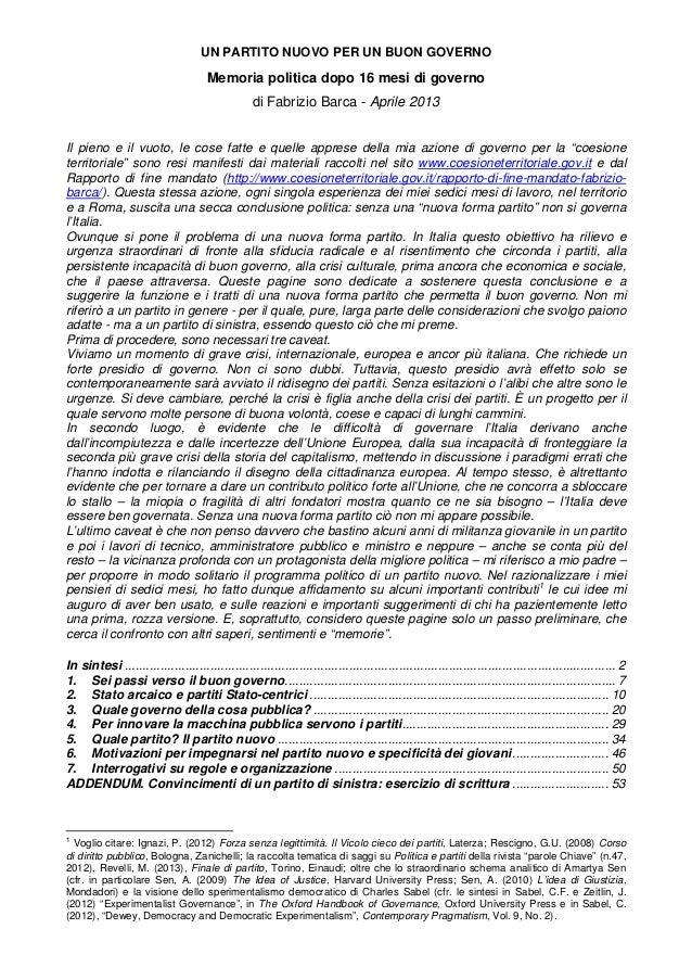 Manifesto di Fabrizio Barca