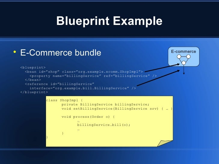 Apache aries a blueprint for developing with osgi and jee blueprint example malvernweather Gallery