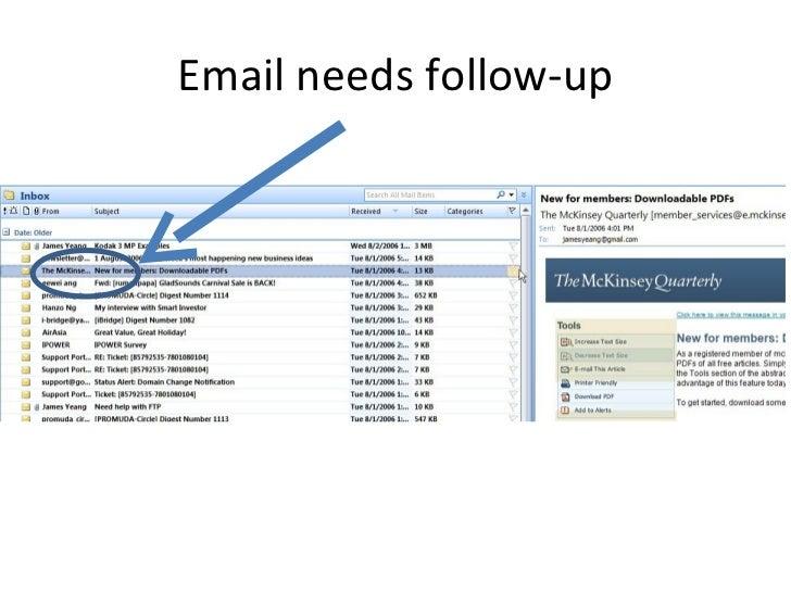 Email needs follow-up