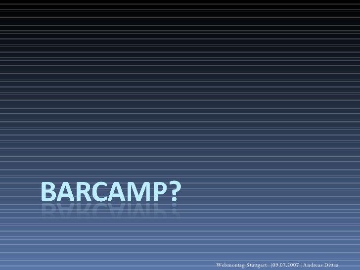 Barcamp FAQ Slide 2