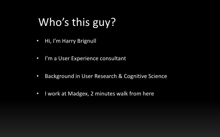 What You Need To Know About Eye Tracking (older barcamp version) Slide 2