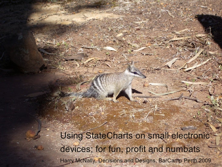 Using StateCharts on small electronic devices; for fun, profit and numbats Harry McNally, Decisions and Designs, BarCamp P...
