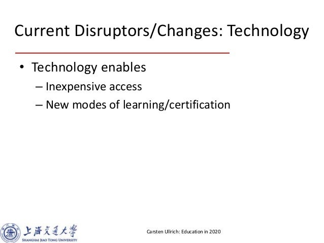 Education in 2020 - Open Discussion at Barcamp Spring Shanghai 2013 Slide 2