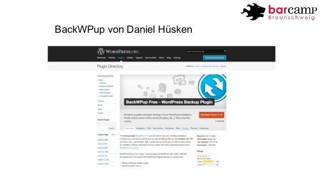 BackWPup von Daniel Hüsken