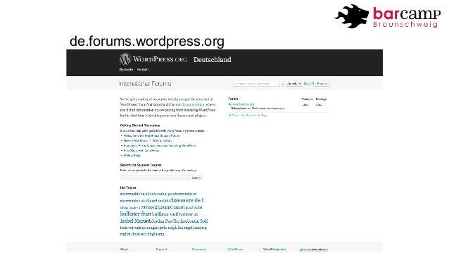 de.forums.wordpress.org