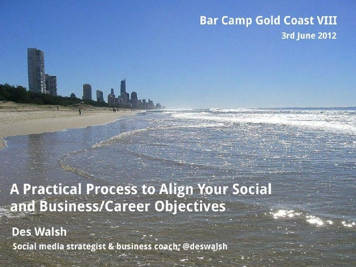     Aligning our social and    business/career objectives    5 step process