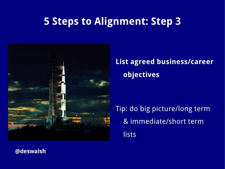 5 Steps to Alignment: Step 4              Brainstorm and list social                media objectives              Tip: use...