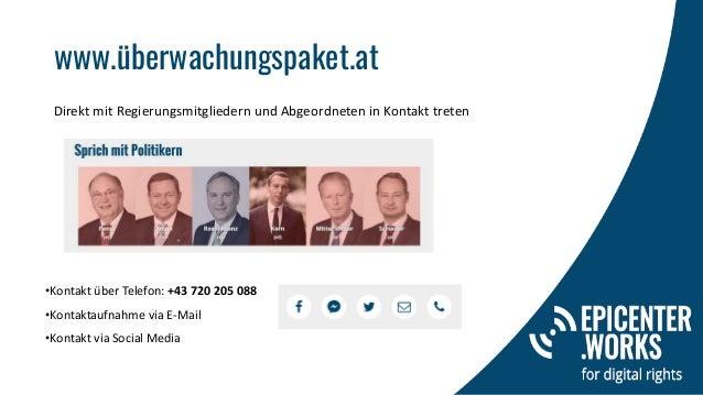 www.überwachungspaket.at •Kontakt über Telefon: +43 720 205 088 •Kontaktaufnahme via E-Mail •Kontakt via Social Media Dire...