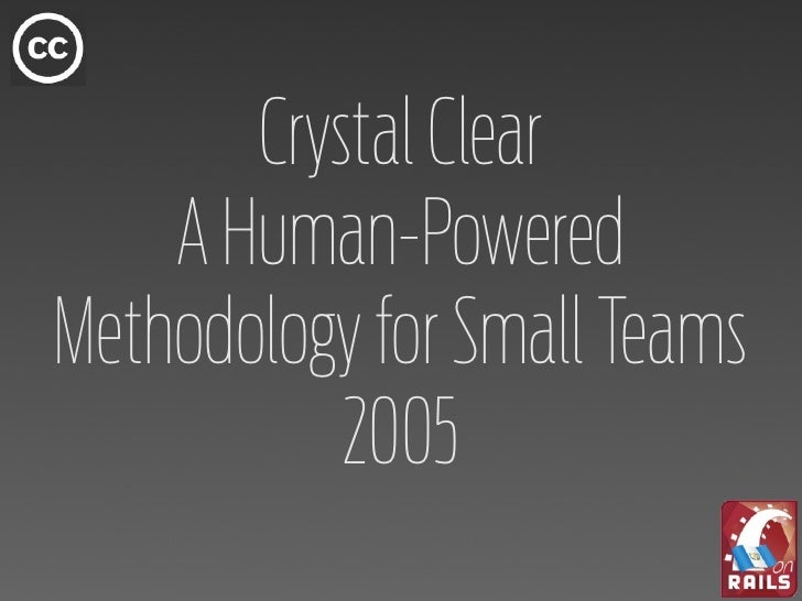 crystal clear a human powered methodology for small teams pdf