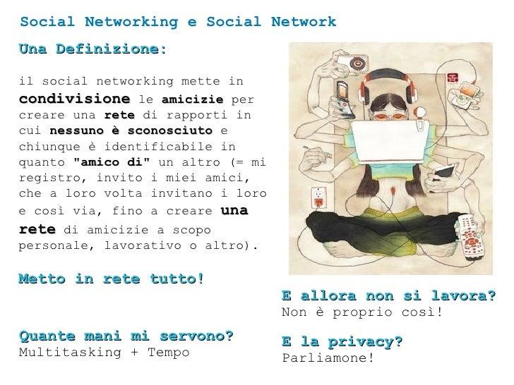 Social Networking e Social Network Una Definizione: il social networking mette in  condivisione  le  amicizie  per creare ...