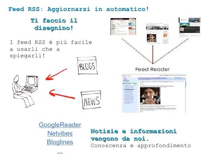 Feed RSS: Aggiornarsi in automatico! GoogleReader Netvibes Bloglines ... Ti faccio il disegnino! I feed RSS è più facile a...
