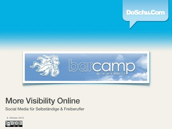 More Visibility Online - Social Media für Freelancer & Selbständige