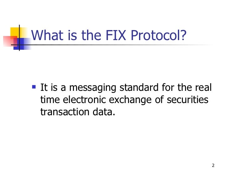 Intro To The FIX Protocol presented at BarCampNYC3