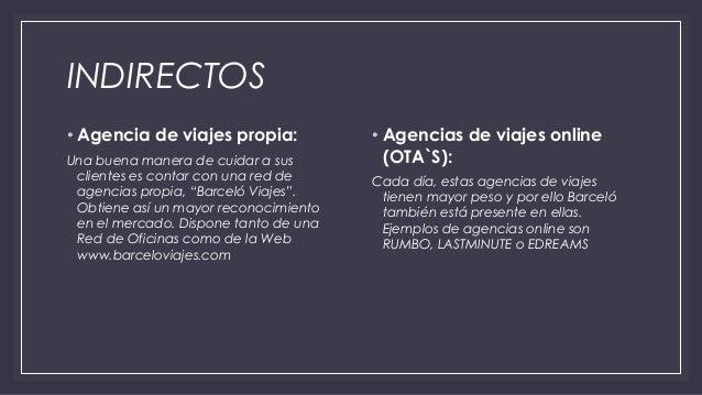 Barcel hotels resorts for Oficina barcelo viajes