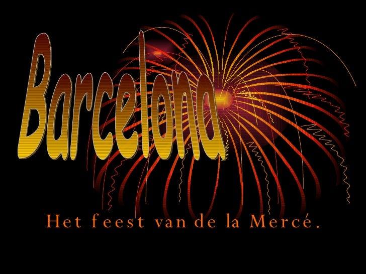 Het feest van de la Mercé. Barcelona