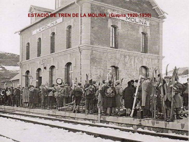 ESTACIÓ DE TREN DE LA MOLINA  (Girona 1920-1930)