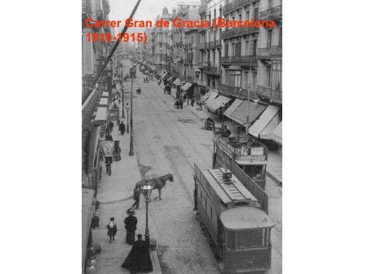 Carrer Gran de Gracia (Barcelona 1910-1915)