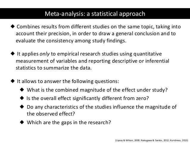The use of meta-analysis to address ecological questions: an example ….
