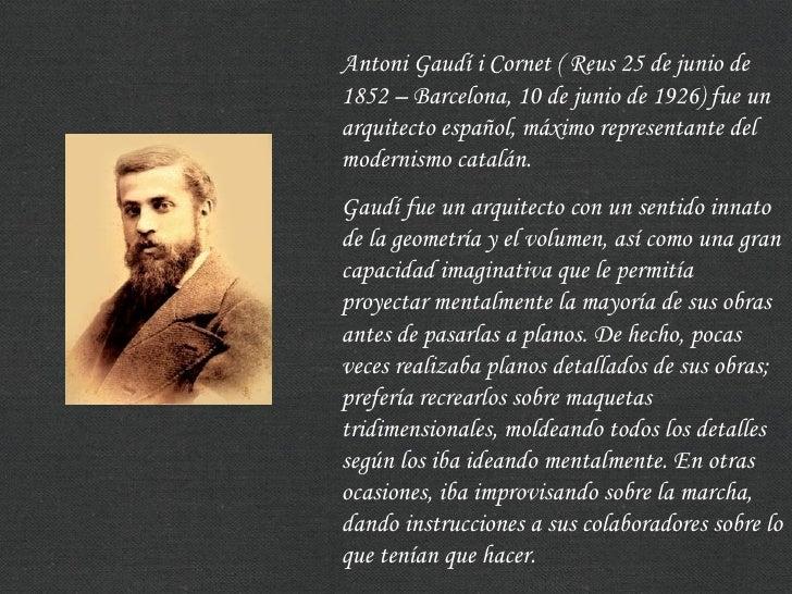 Barcelona antonio gaudi y sus obras for Arquitectos y sus obras