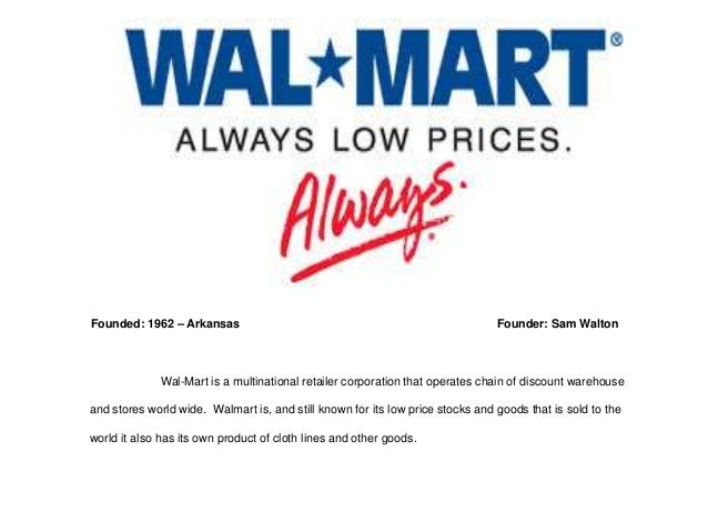 wal mart change management Change management plan (walmart) assignment 5: change management plan (walmart) due week 10 and worth 300 points in this assignment, you will combine the previous.