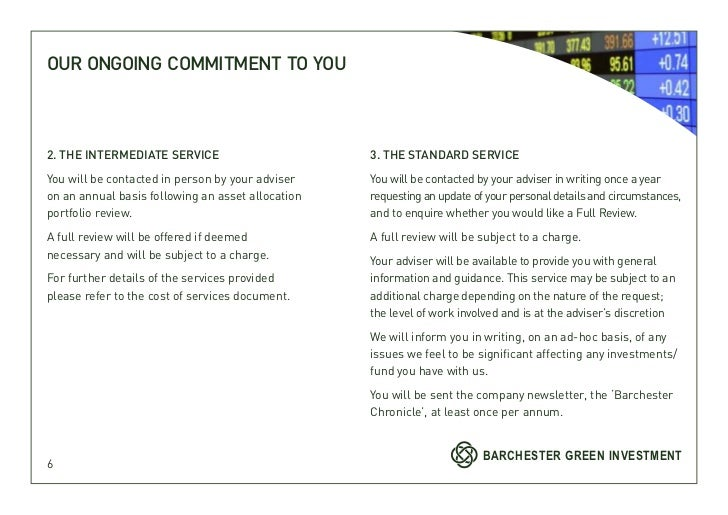 OUR ONGOING COMMITMENT TO YOU2. THE INTERMEDIATE SERVICE                        3. THE STANDARD SERVICEYou will be contact...