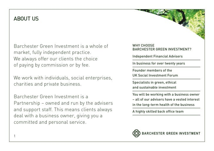 Barchester green investment