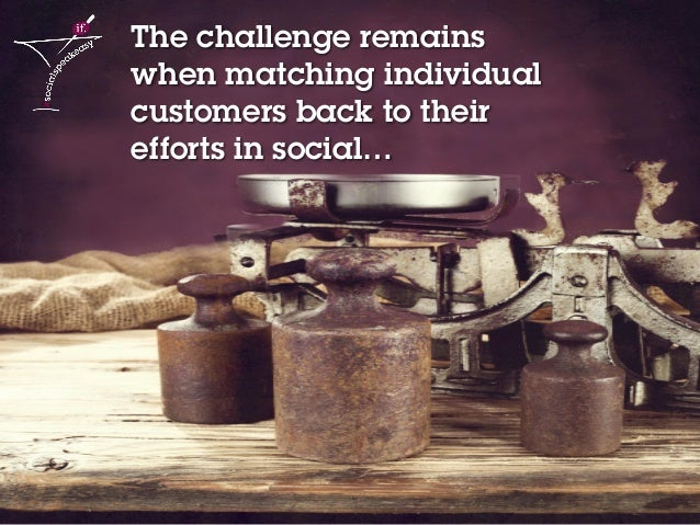 8Social media content strategy 2014 – Lucy Wren The challenge remains when matching individual customers back to their eff...
