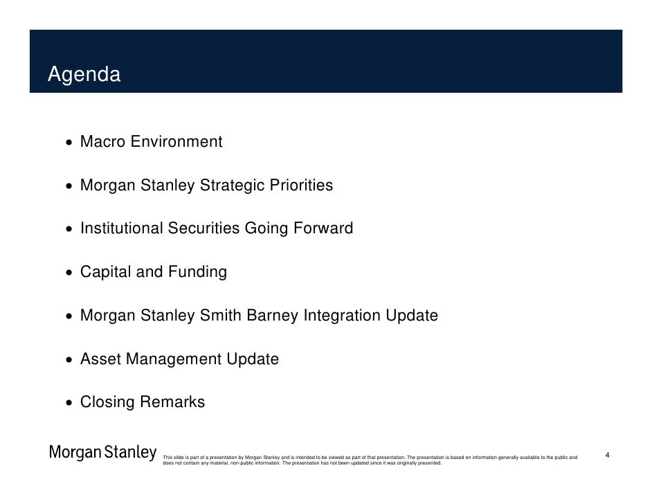 Morgan Stanley: Barclays Financial Services Conference