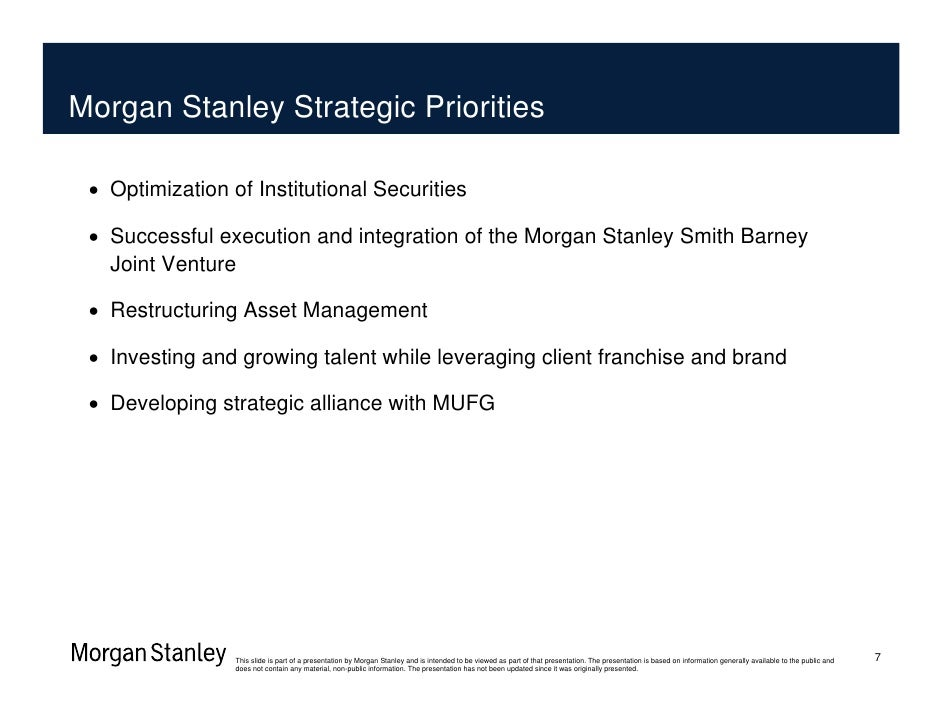 Morgan Stanley Financial Services Morgan Stanley Barclays Financial Services Conference The