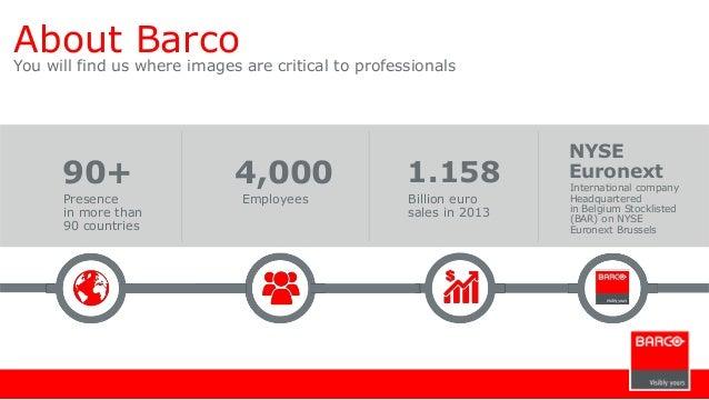 Barco Company Slide 2