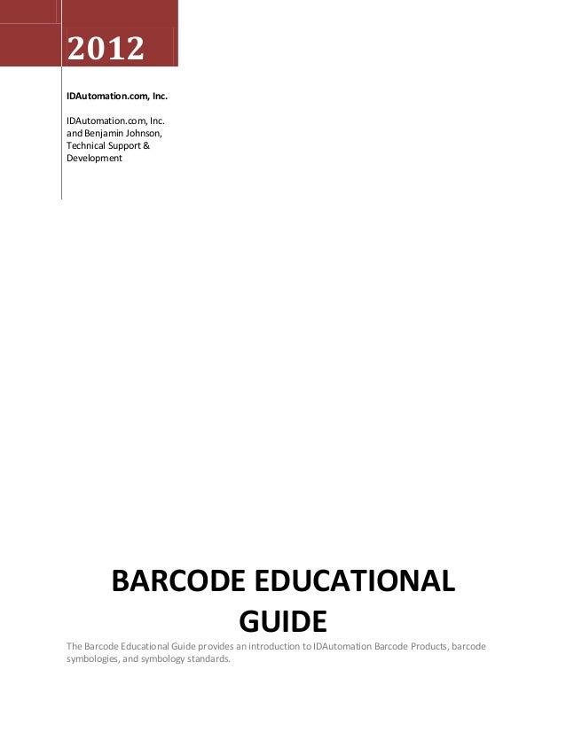 Barcode Educational Guide - IDAutomation com