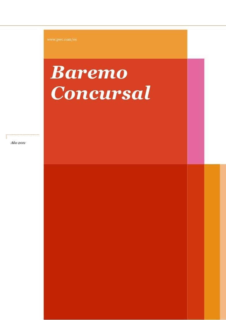 www.pwc.com/es            Baremo            ConcursalAño 2011