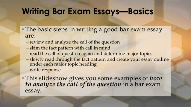 Bar Exam Essay Class: Call of the Question