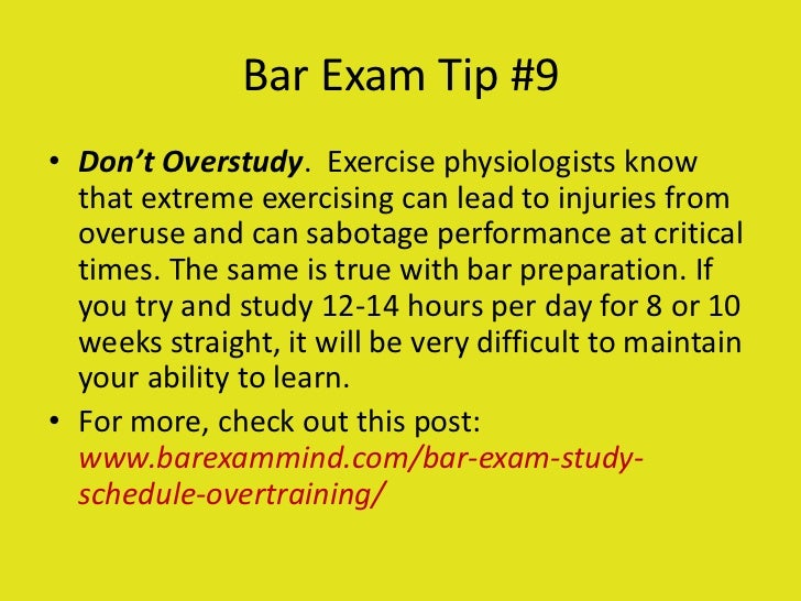 Bar Exam 101 - Strategies for Success for First-Time and ...