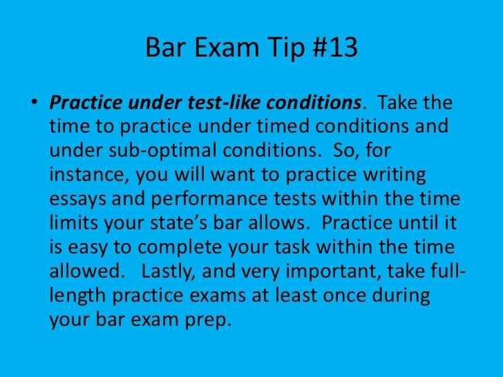 bar exam essay prep