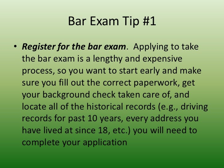 Bar Study Tips: 13 Things To Do Before the Bar Exam