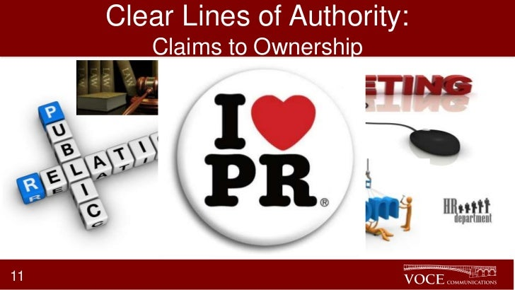 Clear Lines of Authority:        Claims to Ownership11