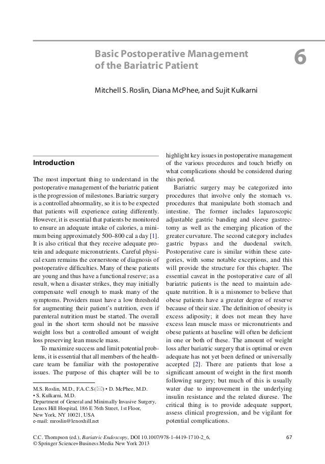 67C.C. Thompson (ed.), Bariatric Endoscopy, DOI 10.1007/978-1-4419-1710-2_6,© Springer Science+Business Media New York 201...