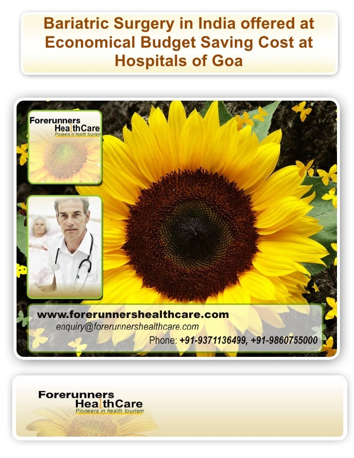 Bariatric Surgery in India offered at Economical Budget Saving Cost at           Hospitals of Goa