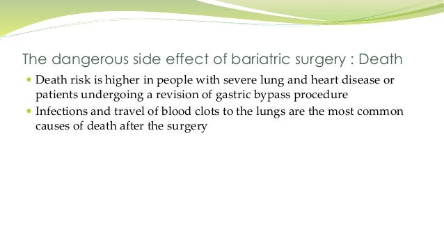 Bariatric Surgery Side Effects Long Term