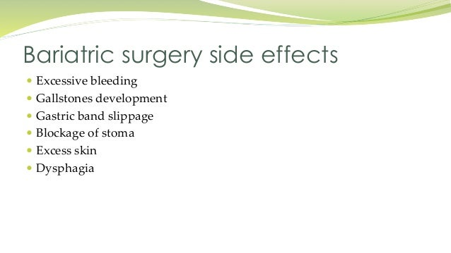 Long Term Side Effects Of Bariatric Surgery