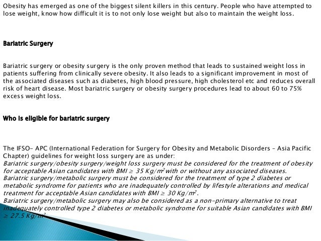 Bariatric Weight Loss Surgery
