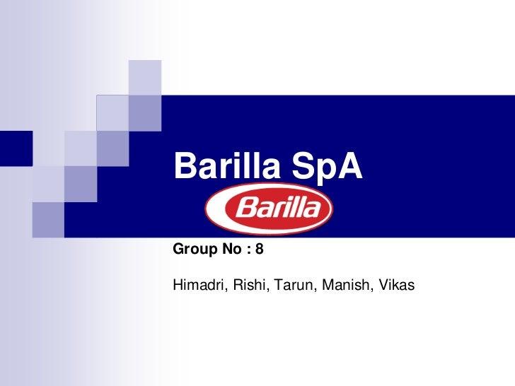 barilla scenario research essay