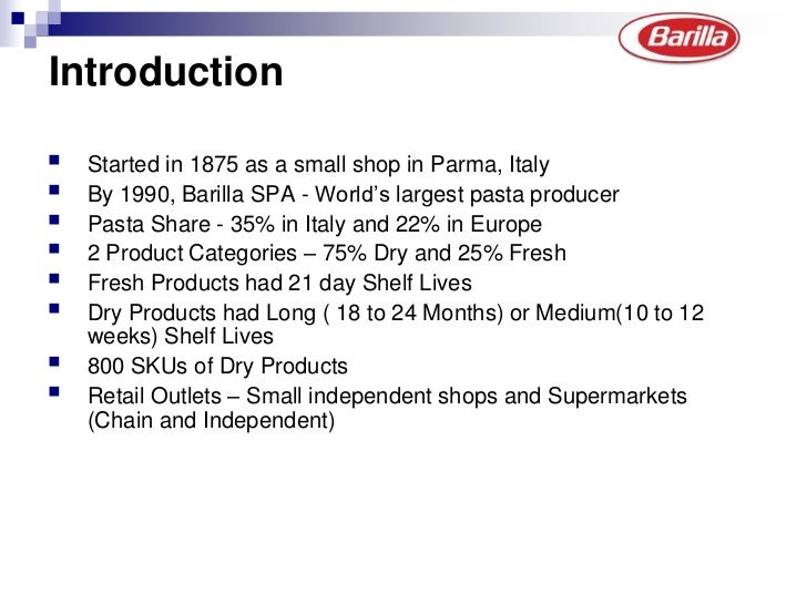 Barilla Spa: A case on Supply Chain Integration Slide 2