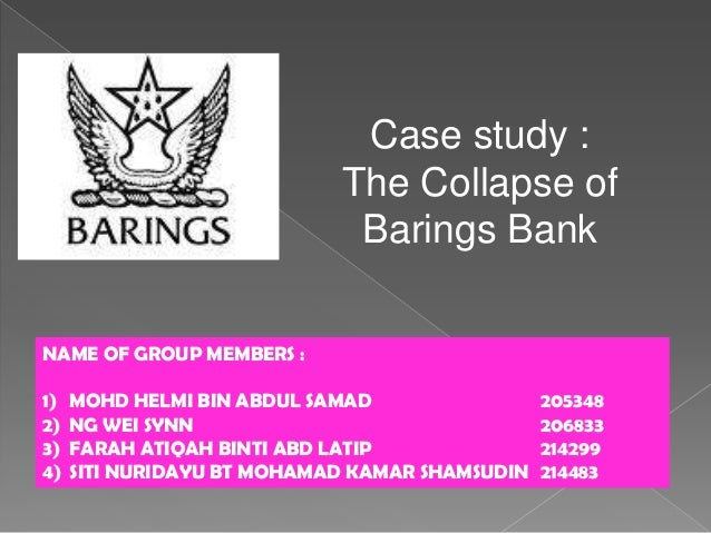 The Collapse of Barings Bank - Ethics Unwrapped