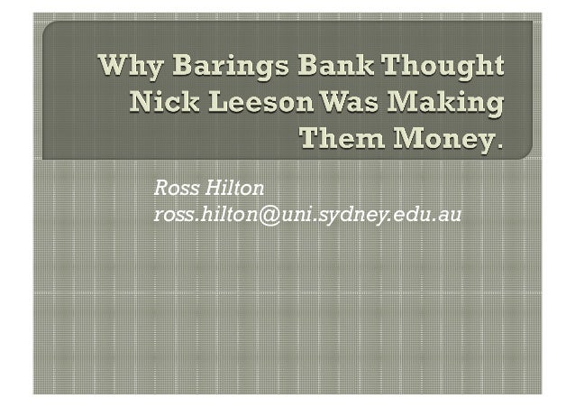 Ross Hiltonross.hilton@uni.sydney.edu.au