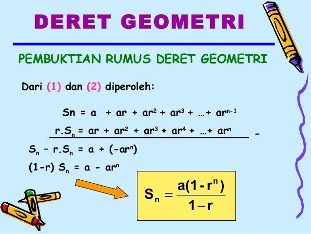Rumus Sn Deret Aritmatika Dan Geometri - Matematika Dasar