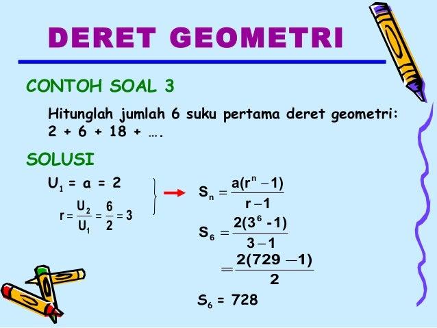 Barisan Deret Geometri