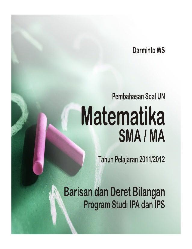 Program Studi : IPA  PAKET : A63 - IPA    20. Jumlah n suku pertama deret aritmetika dinyatakan dengan ܵ ൌ 2݊ଶ  4݊. Suku...